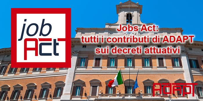 job act tutti i contributi decreti